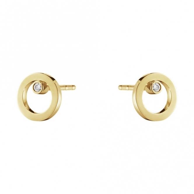Halo 18ct Yellow Gold Diamond 0.03ct Ear Studs