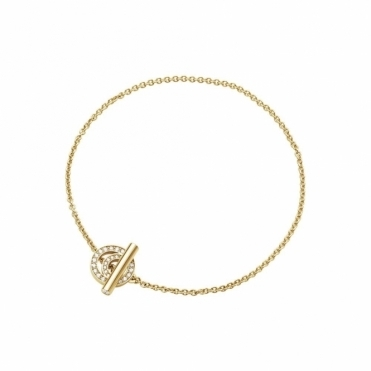 Halo 18ct Yellow Gold Diamond 1633A Bracelet
