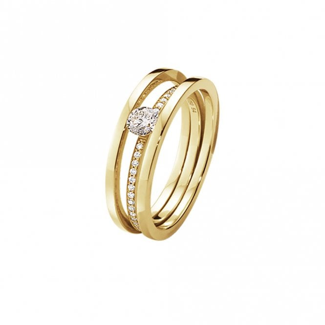 Halo 18ct Yellow Gold Diamond 1634A Solitaire Ring