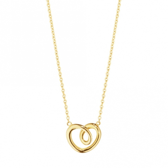 Hearts of Georg Jensen 18ct Yellow Gold Pendant, Small