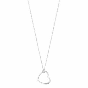 Hearts of Georg Jensen Sterling Silver Pendant 600A