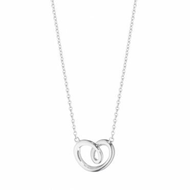 Hearts of Georg Jensen Sterling Silver Pendant, Small