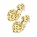 Heartshape diamond drop earrings