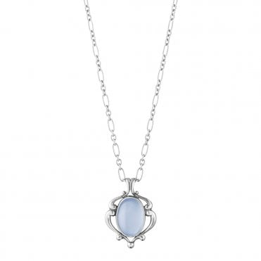 Heritage Sterling Silver & Blue Chalcedony 2019 Pendant