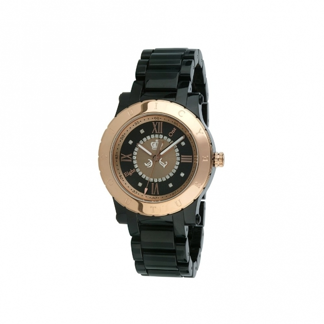 HRH Black Case & Rose Gold Watch
