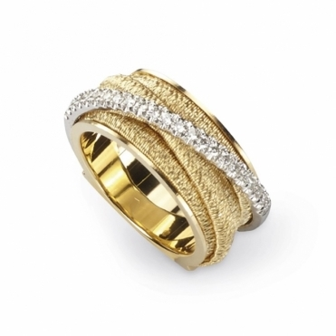 Il Cairo 18ct Yellow Gold Diamond Set Ring 0.23ct