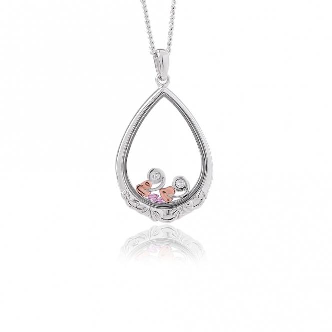 Inner Charm Sapphire Glass Pendant