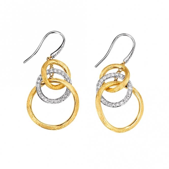 Jaipur 18ct White Gold Links Diamond Earrings