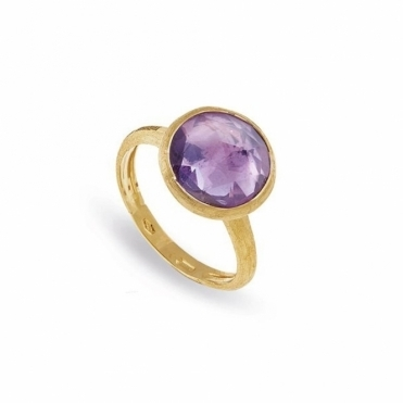 Jaipur 18ct Yellow Gold Amethyst Ring