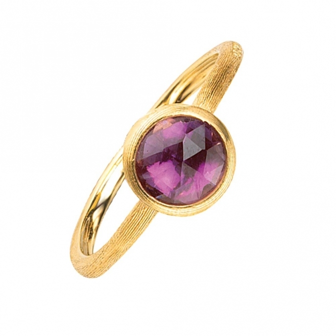 Jaipur 18ct Yellow Gold Amethyst Ring