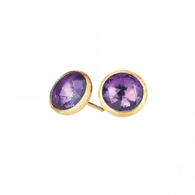 Jaipur 18ct Yellow Gold Amethyst Round Stud Earrings