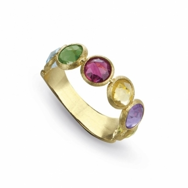 Jaipur 18ct Yellow Gold Mix Stone Ring