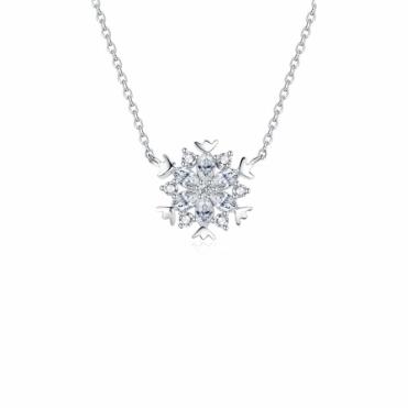 Kaleidoscopic Snowflake Sterling Silver Pendant