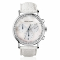 Koppel 417 Ladies Quartz Chronograph 38mm with Diamonds, Mother-of-Pearl Dial and White strap - 3575366