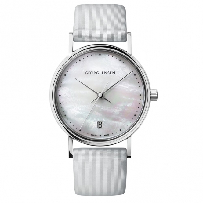 Koppel Ladies Watch with Mother-of-Pearl Dial and Satin Strap
