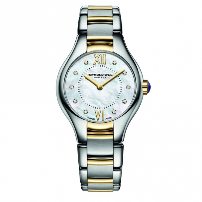 Ladies Noemia Steel and Gold PVD Quartz Watch with Diamond Hours