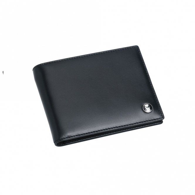 Leather 8 Credit Card Wallet in Black