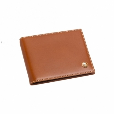 Leather 8 Credit Card Wallet in Tan