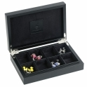 Leather Cufflink Box in Black
