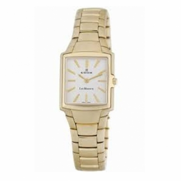 Les Bemonts Gold PVD square quartz bracelet watch - 28126 37J AID