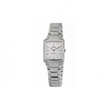Les Bemonts Ladies  Quartz Watch in Brushed Steel with Square Silver Dial - 2816 3 AIN