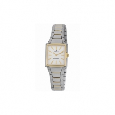 Les Bemonts Ladies Quartz Watch inSteel & Gold PVD with Square Silver Dial - 28126 357 AID