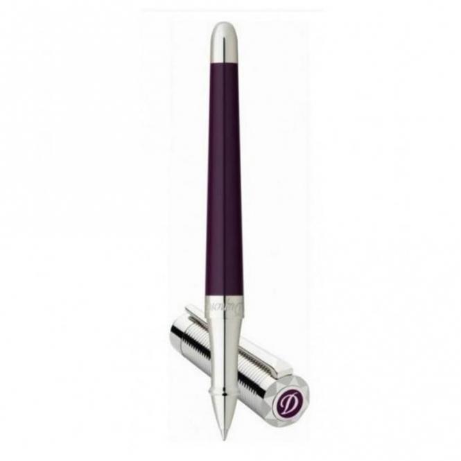 Liberte Rollerball Pen in Plum Lacquer and Palladium