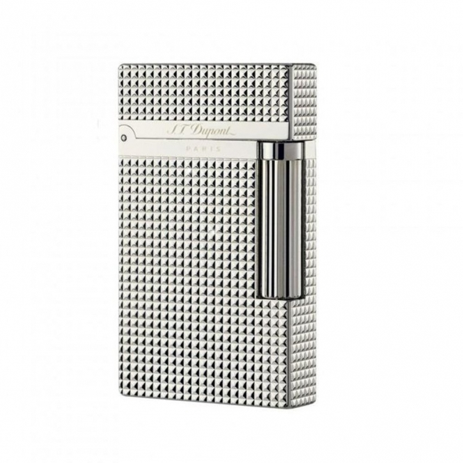 Ligne Two Diamond Head Silver Finish Lighter -  D-016184