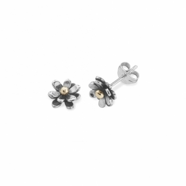 Lucky Penny Double Flowers Stud Earrings