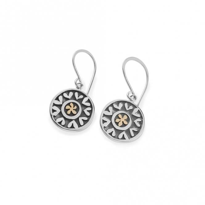 Lucky Penny Hearts & Flowers Drop Earrings