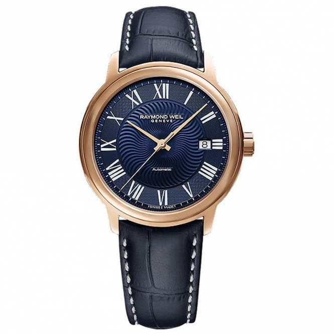 Maestro 40mm Automatic Watch in Rose Gold PVD with Blue Dial