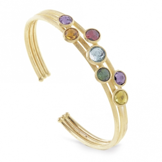 Marco Bicego 18 Yellow Gold Jaipur Mixed Gem Bangle