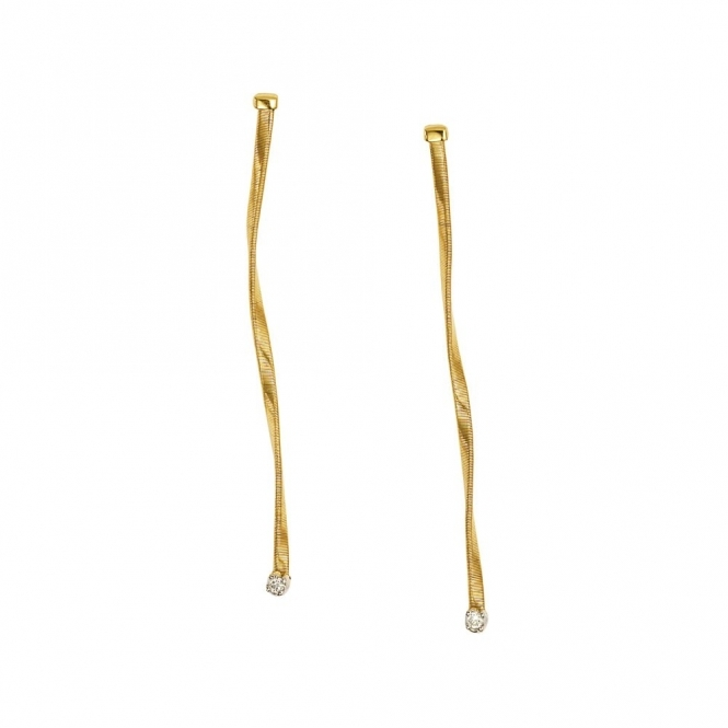 Marrakech 18ct Yellow Gold Diamond Drop Earrings