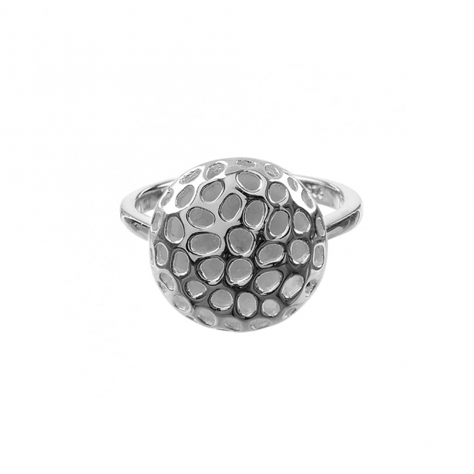 Memento Disc Sterling Silver Ring