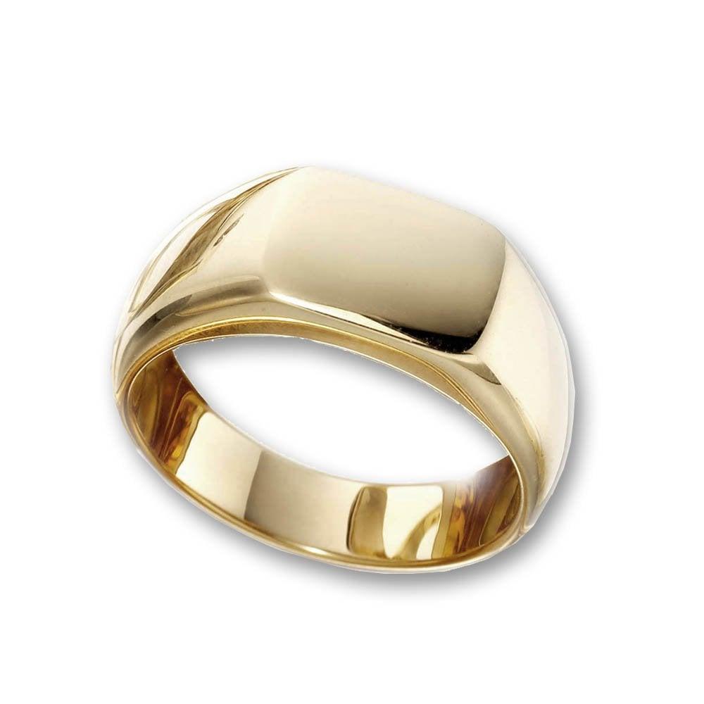 Wharton Goldsmith Mens 18ct Yellow Gold Cushion Signet Ring
