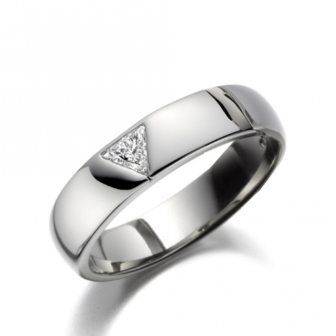Men's Palladium Trilliant Diamond Ring 1T62A