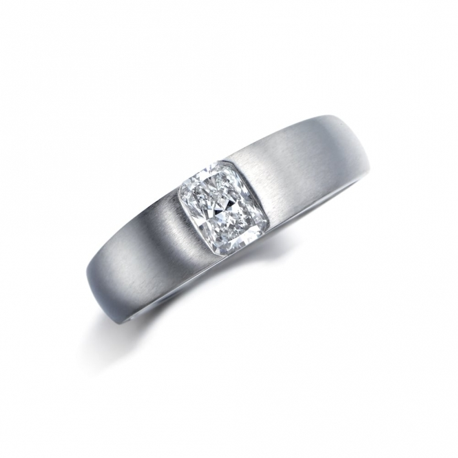 Mens Platinum Radiant Cut Engagement Ring