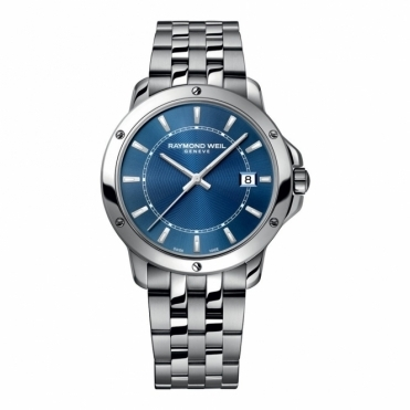 Men's Tango Stainless Steel Blue Dial Watch