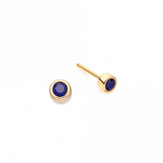 Mini Lapis Lazuli Stilla Stud Earrings