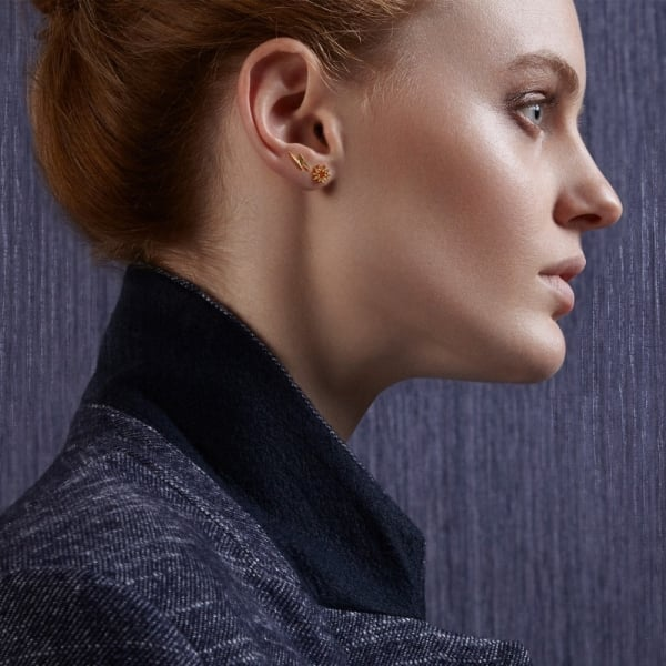 the tusk ear stud earrings by designer jo gold lightning mini nayor earstylist bolt products story