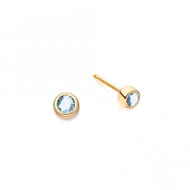 Mini London Blue Topaz Stilla Stud Earrings