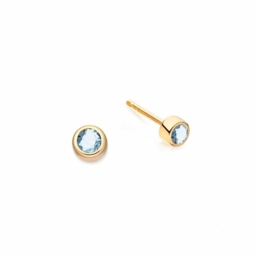 Mini London Blue Topaz Stilla Stud Earrings