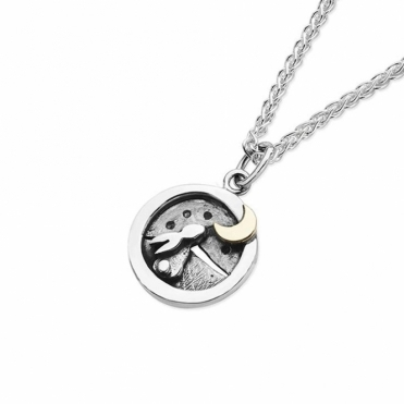 Moondance Necklace with Rabbit & Moon