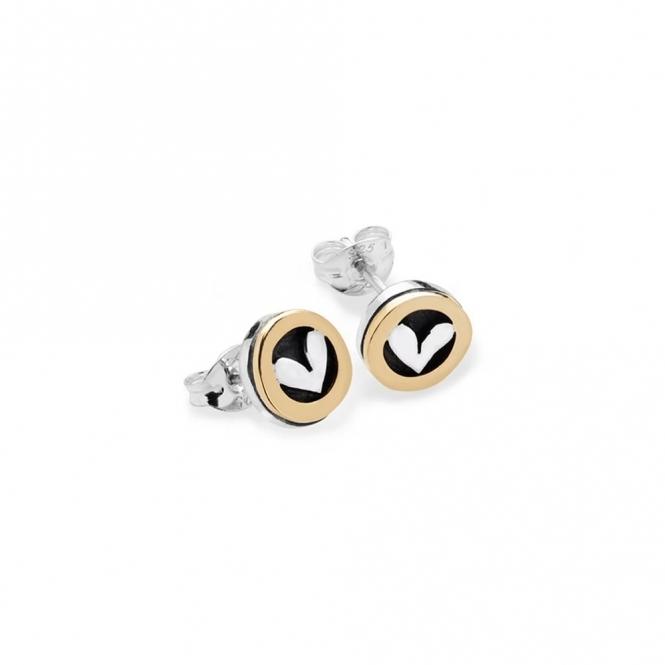 Moondance Stud Earrings with Heart
