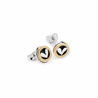 Moondance Stud Earrings with Heart