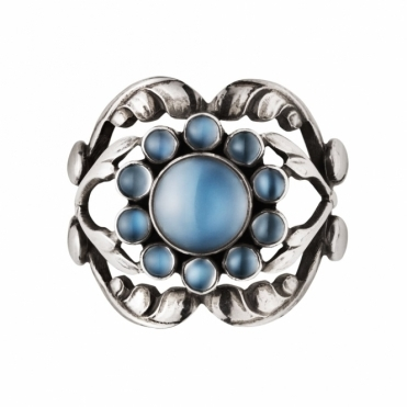 Moonlight Blossom Moonstone Ring
