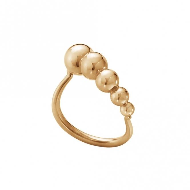 3506be954 Moonlight Grapes 18ct Rose Gold 1551A Slim Ring | Georg Jensen