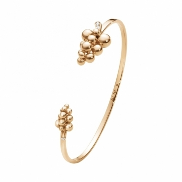 Moonlight Grapes 18ct Rose Gold Diamond Bangle