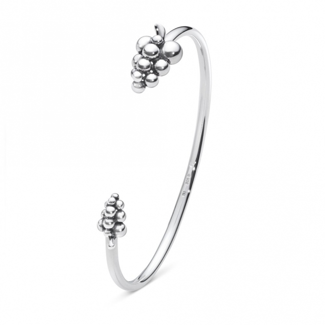 Moonlight Grapes Sterling Silver Bangle