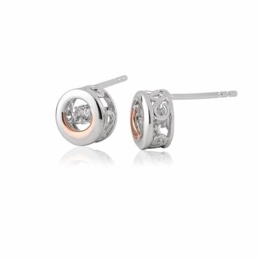 National Treasures Swarovski Topaz Stud Earrings